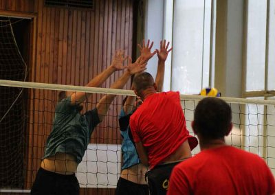 Volleyball Team in Action