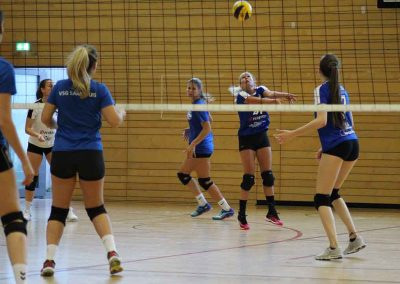 Volleyballerinnen in Action